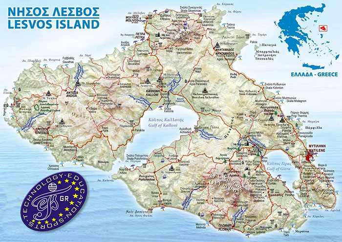 Lesvos map small