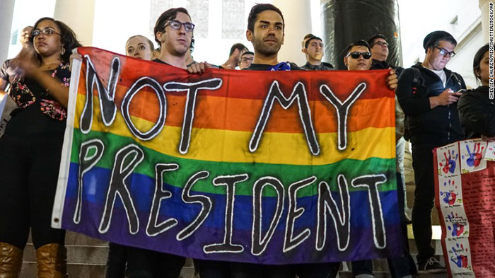 Not my president, Trump and the LGBT community